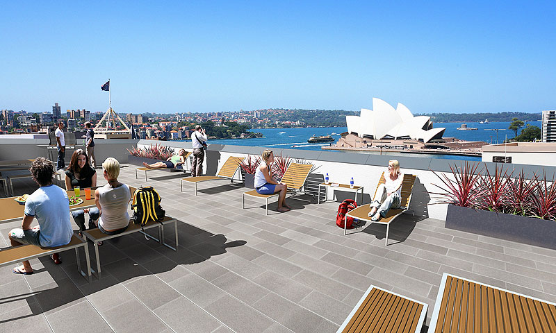 Enjoy the gorgeous views from the rooftop terrace at Sydney Harbour YHA - Opening in November 2009