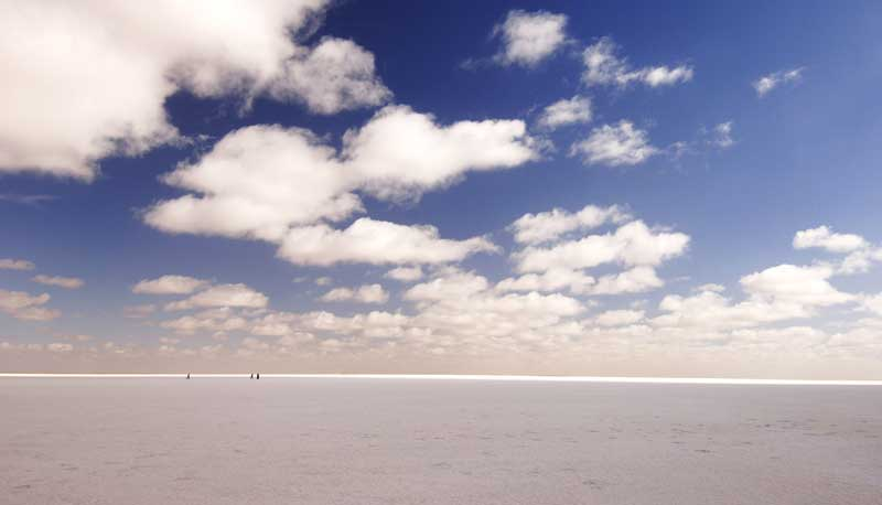 The vast salt pan on SA's Lake Eyre is just one of the startling landscapes to find travelling the Australian Outback
