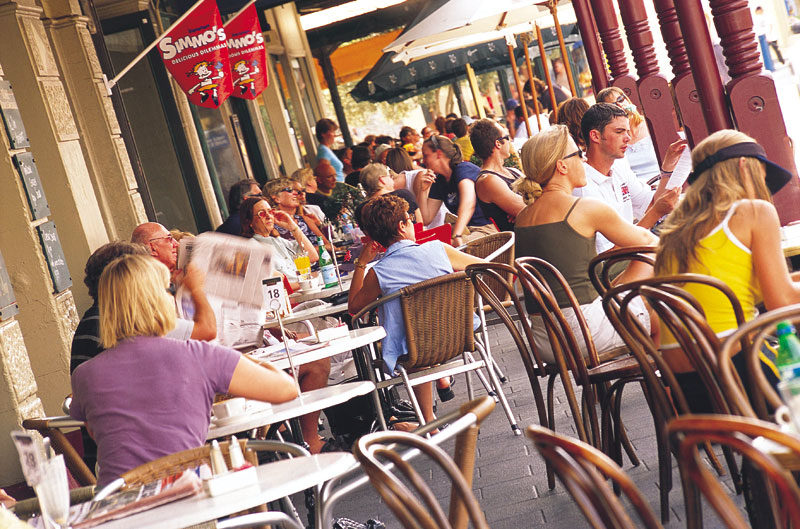 Visit Fremantle, the lively and decidedly arty port town about 20 south of Perth.