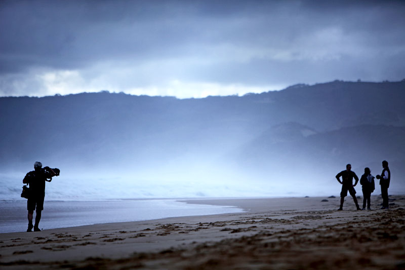 View of Videographer Michael McCarthy on left of frame at Johanna Beach, Victoria.