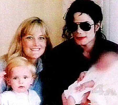 The happy couple with children Prince Michael and Paris Michael Katherine from People magazine