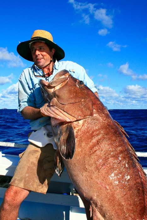 This punter found out just how good the deep sea fishing on Lord Howe really is.
