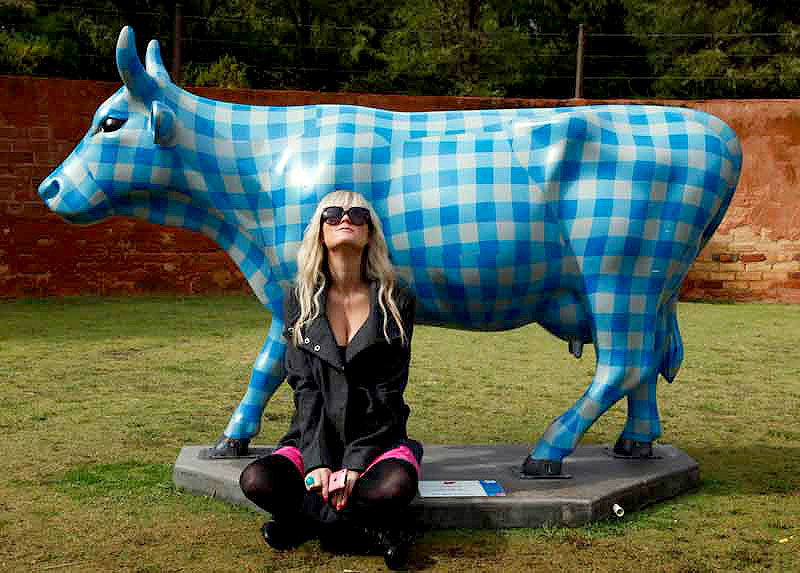 Australian Traveller's Megan Russell with Constance the Cow