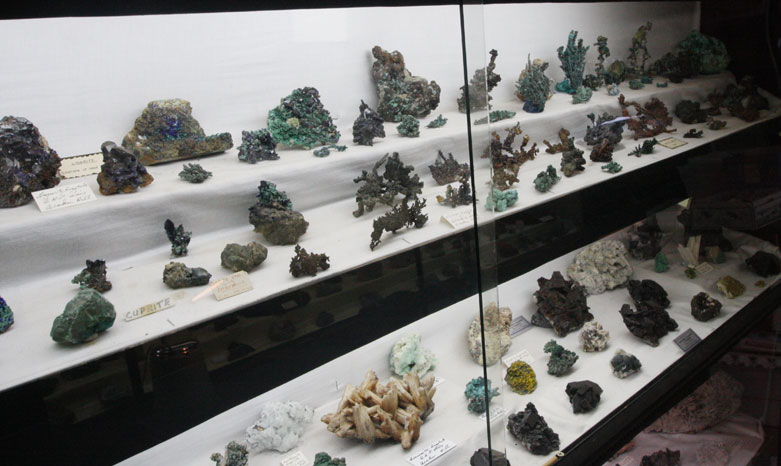 Rhodonite, Pyromorphite, Azurite. If it comes from Broken Hill chances are some of it resides here in Milton's Backyard Museum. Image by Craig Roberts