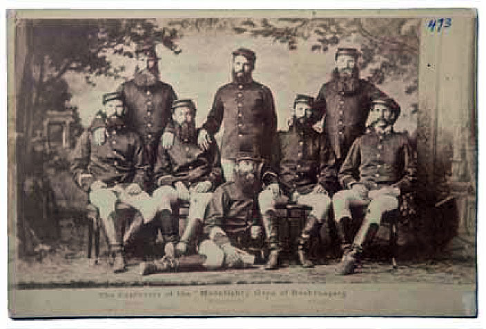 Postcard, The Capturers of the Moonlite Gang of Bushrangers, 1879