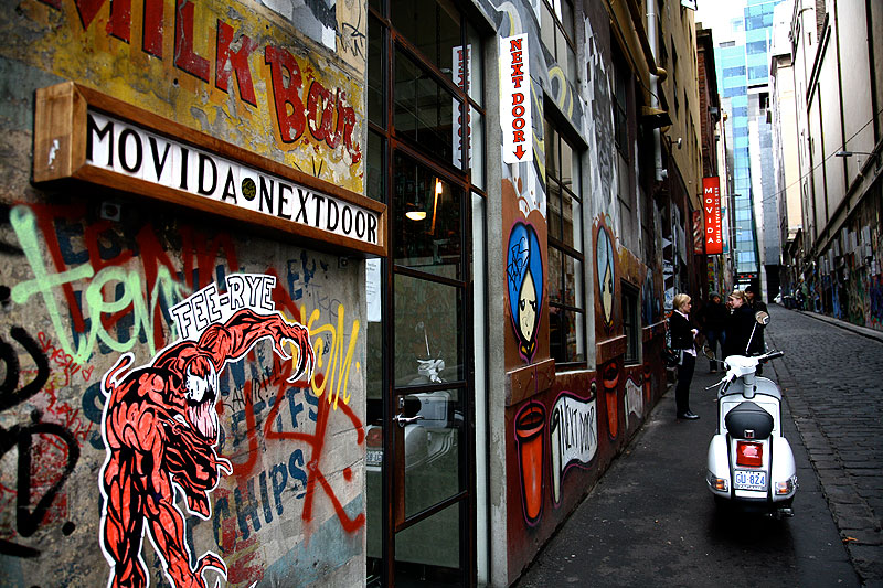 MoVida Next Door on Hosier Lane.