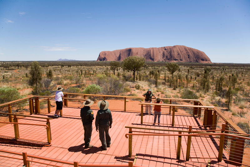 The new viewing platform at Uluru -- image by Grenville Turner