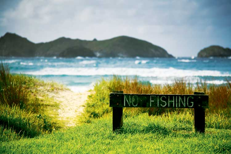 Strictly no fishing at Ned's Beach and here's why