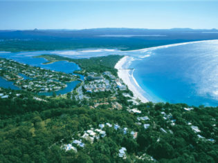Noosa Heads from the air