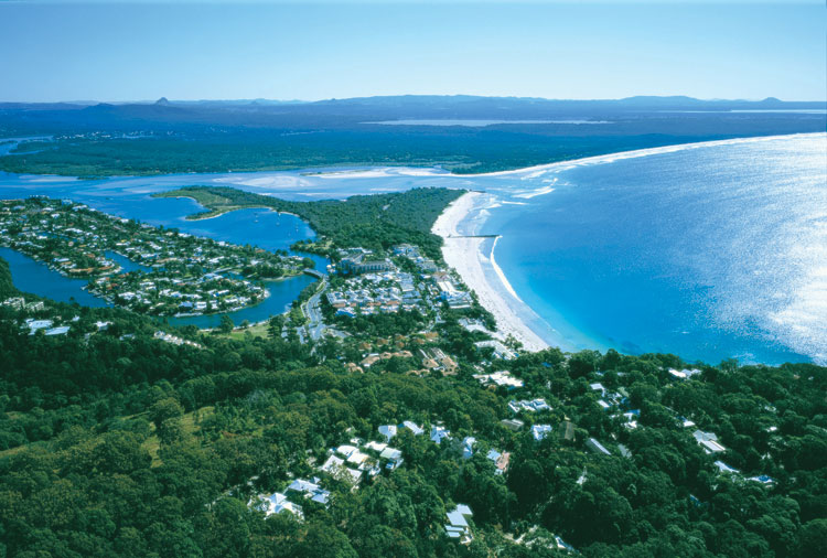 Noosa Heads to be technically correct form the air