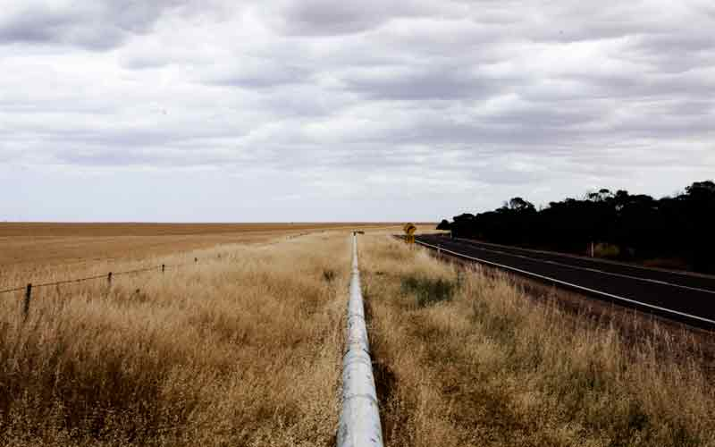 Water pipeline along the Eyre Peninsula