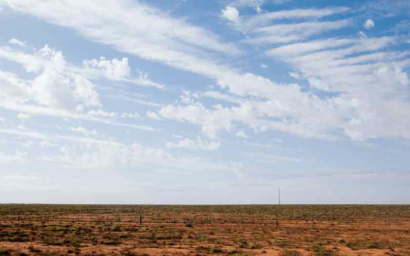 Big skies and endless plains are a feature of the Nullarbor Plain