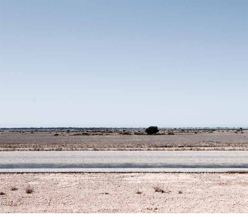 The Nullarbor Plain at midday