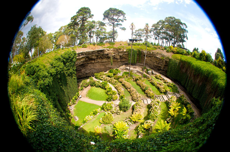 The Umpherston Sinkhole in Mt Gambier, a beautiful sunken garden created in 1886. Image by Dirk Spennemann