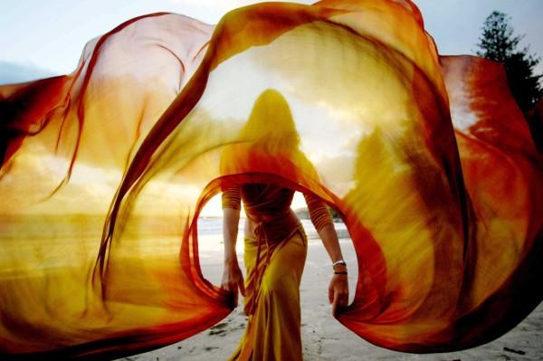 A dramatic dress at the Yamba Festival