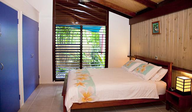 The bungalow's main bedroom