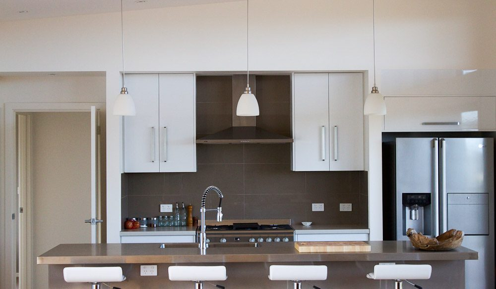 La Soleil's sleek and neutral kitchen