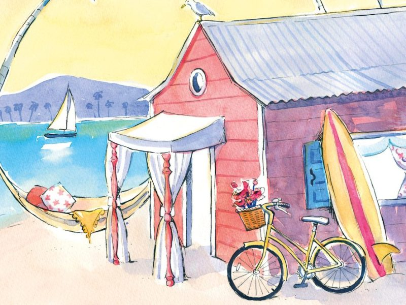 Hyams Beach Seaside Cottages look like this