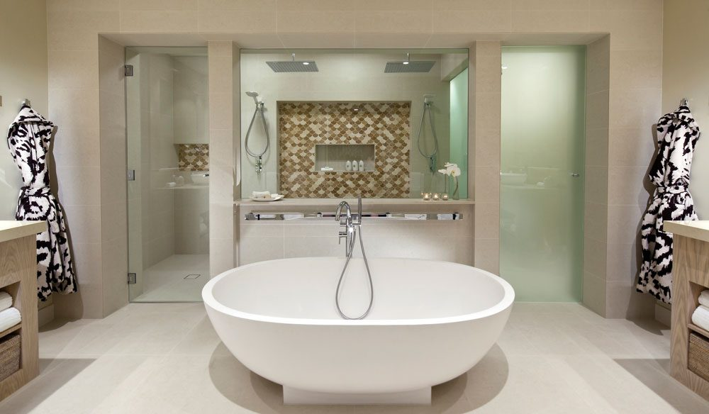 The bathroom of Hayman Island's new penthouse, designed by Diane Von Furstenberg