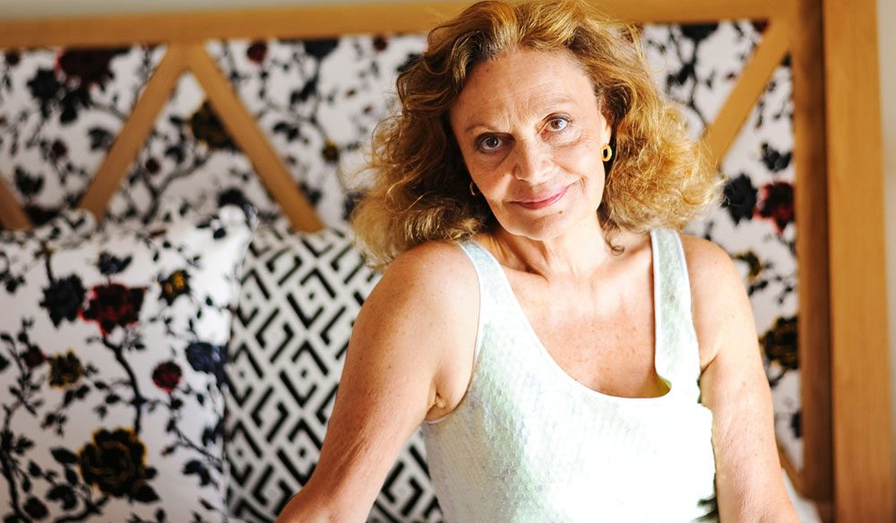 The designer behind the magic, Diane Von Furstenberg at Hayman Island's new penthouse.