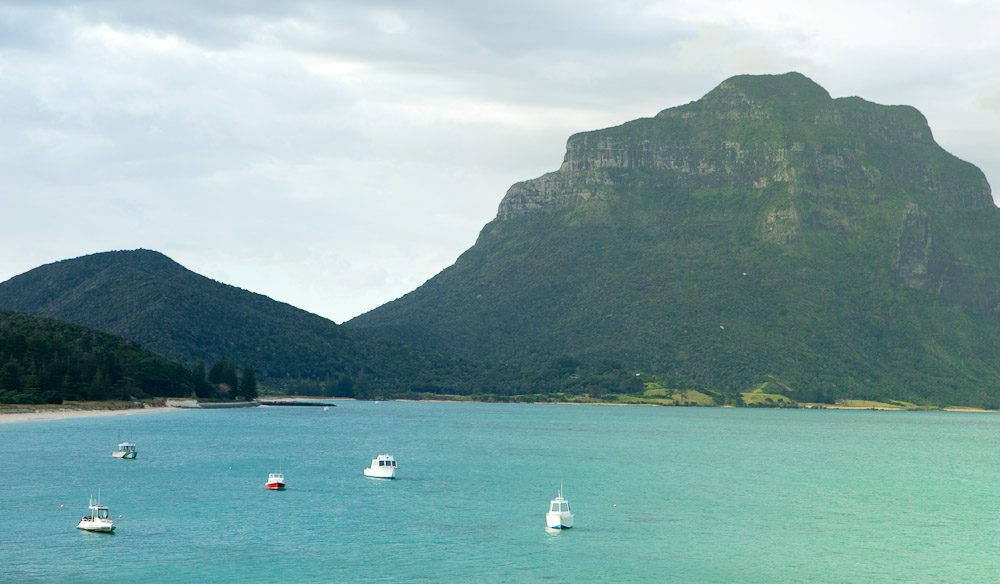 Yet another picture-perfect view from Lord Howe Island