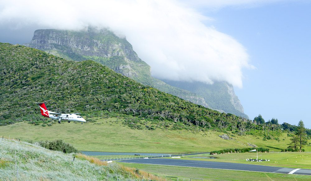 Lord Howe has what is arguably Australia's most scenic airport