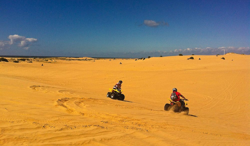 Entertain the kids (or big kids at heart) with quad biking over sand dunes