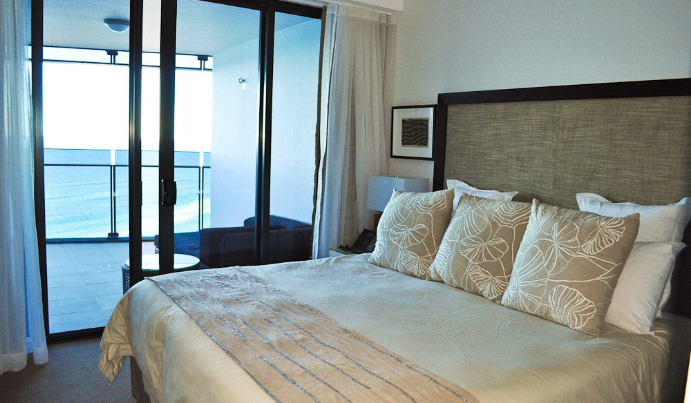 The master bedroom at Sea Temple Surfers Paradise