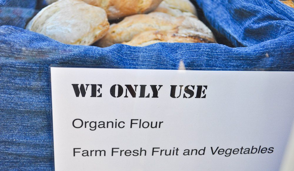 At the weekend farmers markets, organic, free-range and farm fresh produce is a recurring theme