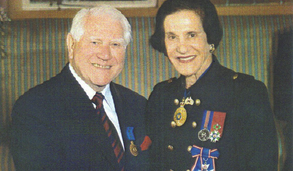 Architect Harry Sprintz receiving his Medal of the Order of Australia from her Excellency Professor Marie Bashir, Governor of New South Wales
