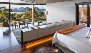 Luxury lodge, Saffire Freycinet, overlooking Tasmania's Coles Bay
