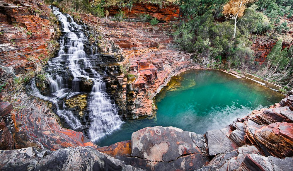 Fortescue Falls and Pool in Karijini National Park - Image by Ignacio Palacios