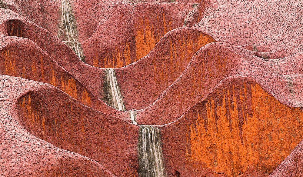 Unexpected waterfalls around Uluru