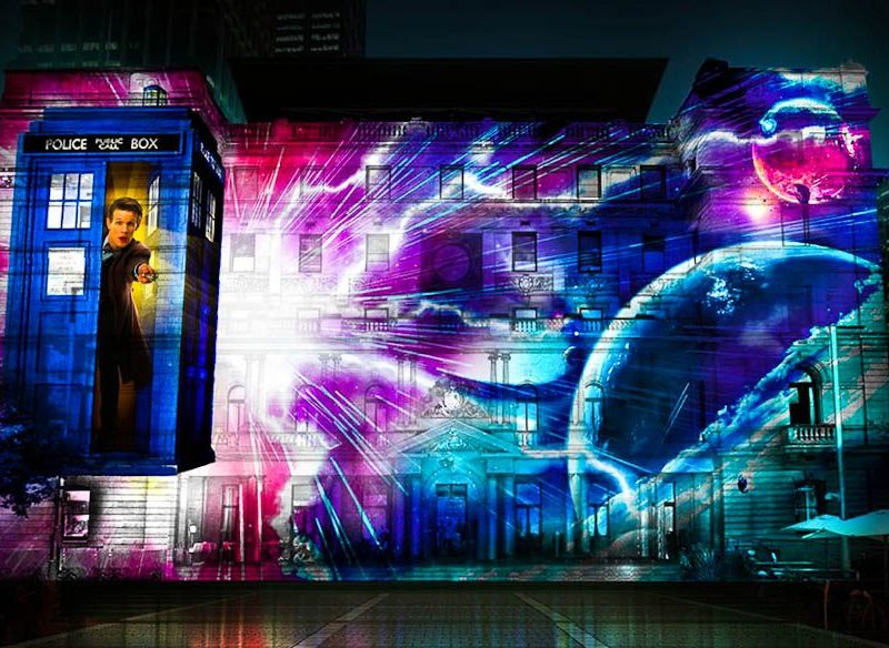 3D Doctor Who action will be screened on the side of a Sydney building in June.