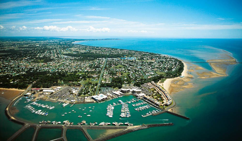 Whale watching home base: Hervey Bay boat harbour