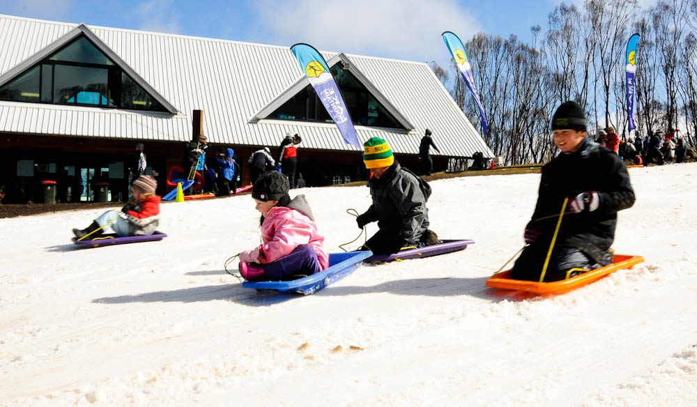 Family Slides: Lake Mountain Resorts