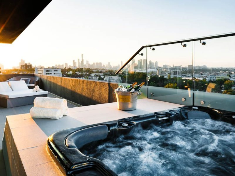 Spa-tacular view: The Olsen Penthouse, South Yarra, Melbourne
