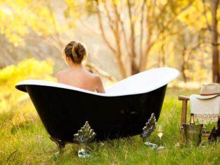 Bush bath in the Barossa Valley