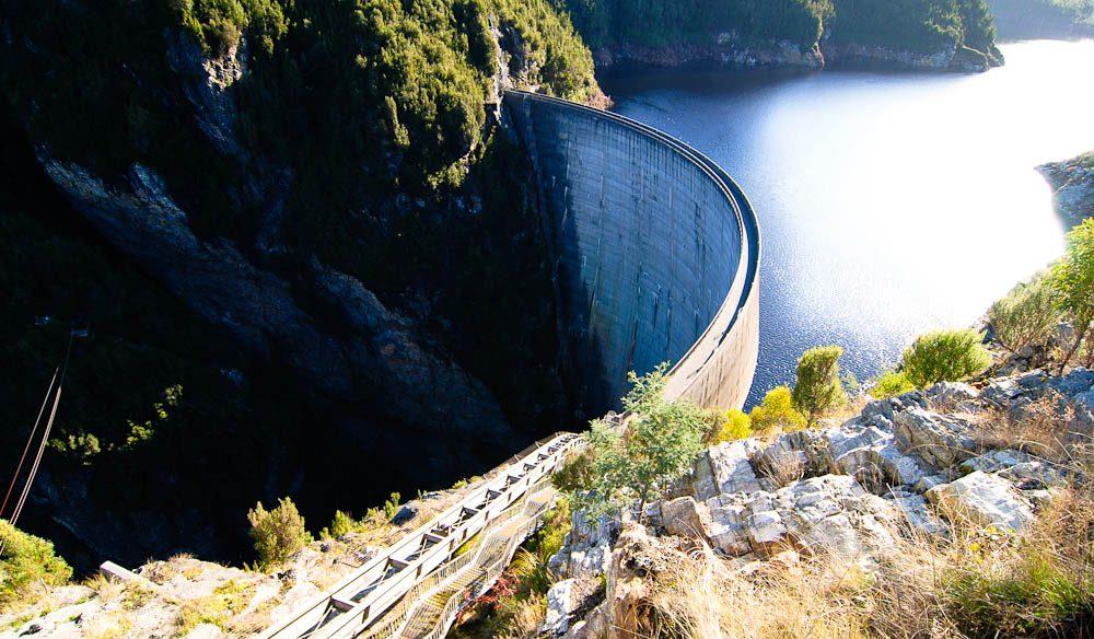 Gordon Dam abseil, Tasmania.