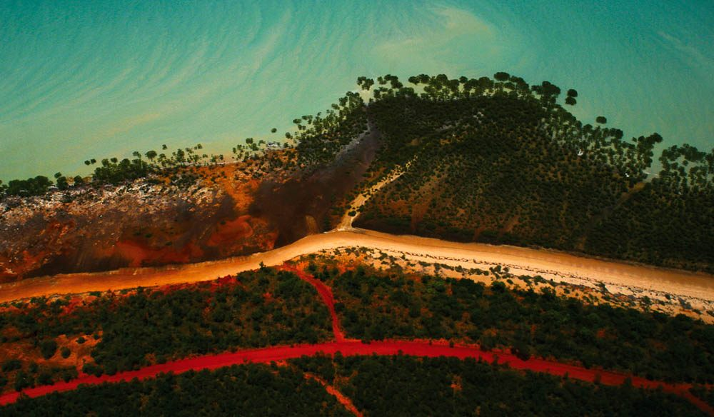 Broome's multi colours from the air (Wayne Talbot)