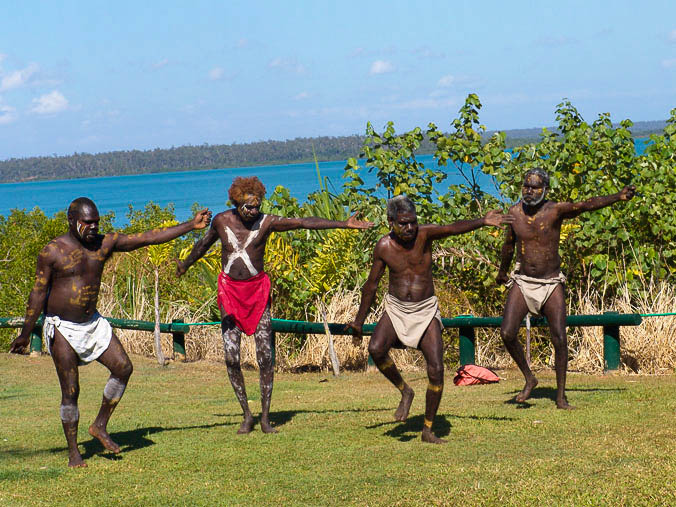 The culturally wealthy Tiwi Islands.