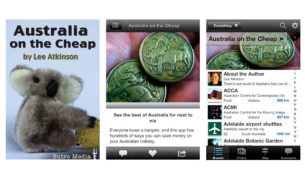Travel writer Lee Atkinson's 'Australia on the Cheap' app.
