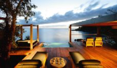 The aspect from the Point Villa Deck at Bedarra Resort.