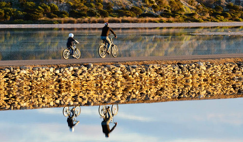 Perfect Winter Warm-up: Bike riding on Rottnest Island.