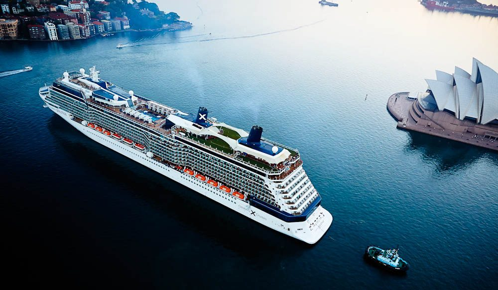 Celebrity Solstice in Sydney Harbour. (cruises)