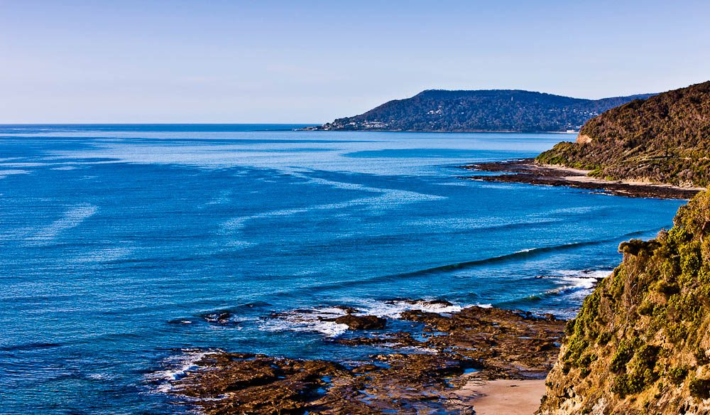 The Great Ocean Road into Lorne.