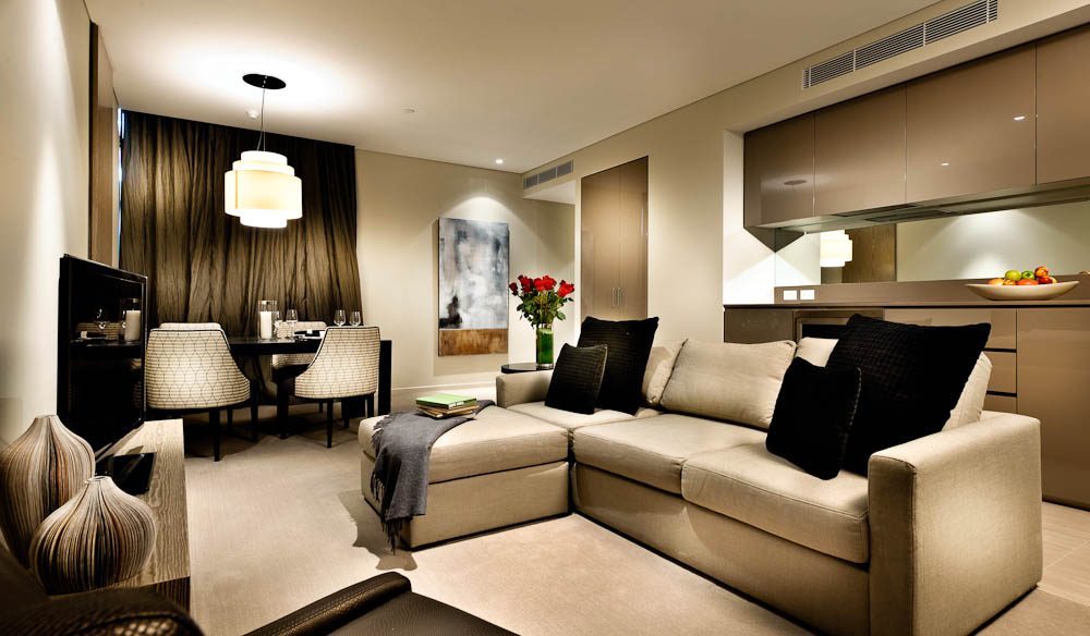 Living area, Fraser Suites, Perth.
