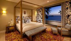 Master bedroom: Diane von Furstenberg designed DVF Penthouse on Hayman Island.