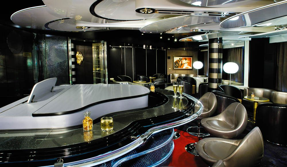 The Piano Bar on Holland America's MS Oosterdam (cruise)