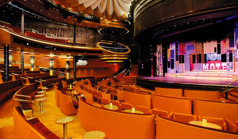 Vista Show Lounge on Holland America's MS Oosterdam (cruise)